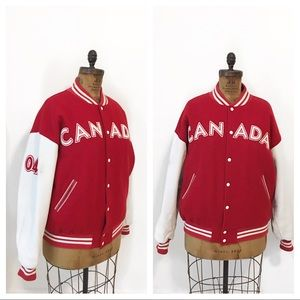 ROOTS OFFICIAL OLYMPIC 2004 varsity leather jacket